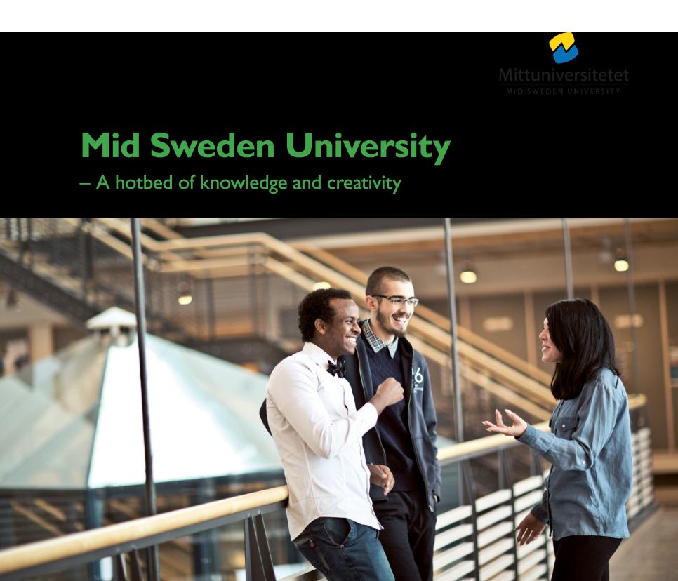 Meet Mid Sweden University - Mid sweden university map