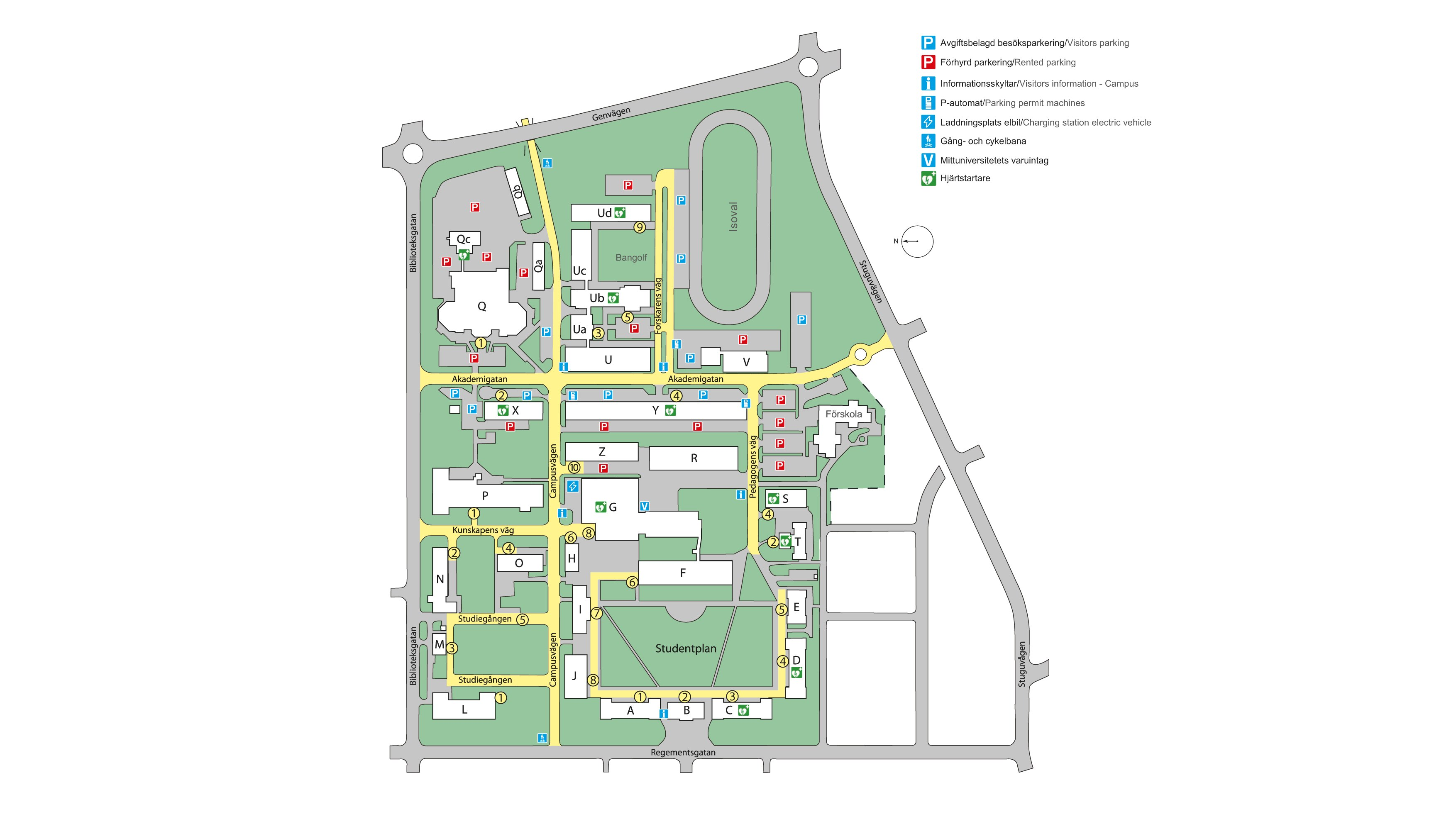 Map Of Campus Ostersund