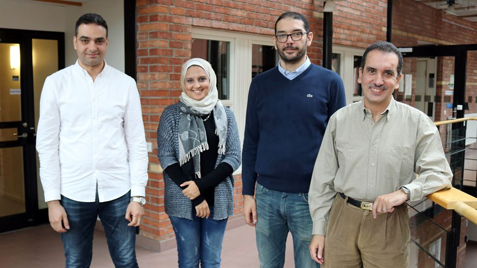 Dr. Mohamed Eldefrawy (Miun), PhD-student Miram Nabil, Dr. Karim G. Seddik and Dr. Yasser Gadallah from The American University in Cairo (AUC).