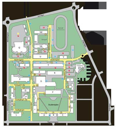 Map of Campus Östersund