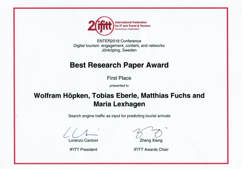 Best Research Paper Award, diplom