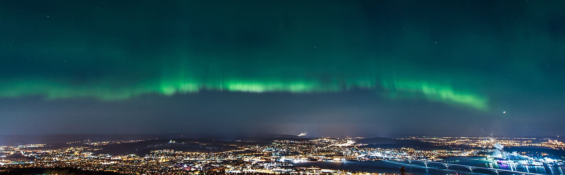 Northern lights over Sundsvall